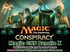 Magic Conspiracy Bundle (X) - Get x2 CNS Booster Boxes & 1 MAX Gold ION Deck Box </#MTGCNS> on Ideal808