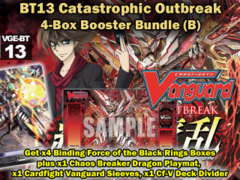 Cardfight Vanguard BT13 Bundle (B) - Get x4 Catastrophic Outbreak Booster Box + Cf-Vanguard Sleeves & BT13 Playmat ** Pre-05/02 on Ideal808