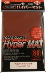 KMC Card Barrier Hyper Mat (80ct) Large Sleeves - Red