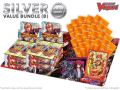 Cardfight Vanguard G-BT10 Bundle (B) Silver - Get x4 Raging Clash of the Blade Fangs Booster Box + FREE Bonus Items