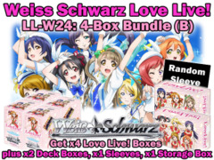 Weiss Schwarz W24 Bundle (B) - Get x4 Love Live! Booster Boxes plus x2 Deck Box, x1 Storage Box & x1 Sleeves on Ideal808