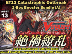 Cardfight Vanguard BT13 Bundle (A) - Get x2 Catastrophic Outbreak Booster Box + Cf-Vanguard Sleeves ** Pre-05/02 on Ideal808