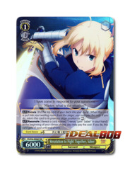 Resolution to Fight Together, Saber [FS/S34-E006S SR] English Special Rare
