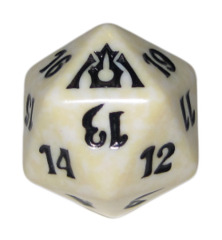 MTG Spindown 20 Life Counter - Dragon's Maze (Orzhov - White/Black)