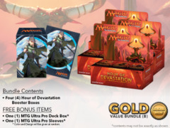 MTGHOU Bundle (B) Gold - Get x4 Hour of Devastation Booster Box + FREE Bonus Items * PRE-ORDER Ships Jul.14