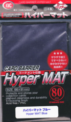 KMC Card Barrier Hyper Mat (80ct) Large Sleeves - Blue