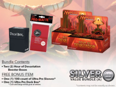 MTGHOU Bundle (A) Silver - Get x2 Hour of Devastation Booster Box + FREE Bonus Items