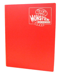 Monster Protectors 9 Pocket Binder - Matte - Red on Ideal808
