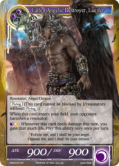 Fallen Angelic Destroyer, Lucifer [TMS-075 SR (Full Art)] English