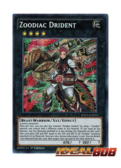 Zoodiac Drident - RATE-EN053 - Secret Rare - 1st Edition