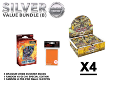 Yugioh Maximum Crisis Bundle (B) Silver - Get x4 Booster Boxes + Bonus Items (See Description)