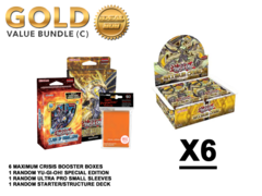 Yugioh Maximum Crisis Bundle (C) Gold - Get x6 Booster Boxes + Bonus Items (See Description)