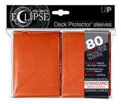 Ultra Pro Matte Eclipse Large Sleeves 80ct - Orange (#85113)
