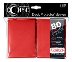 Ultra Pro Matte Eclipse Large Sleeves 80ct - Red (#85250)