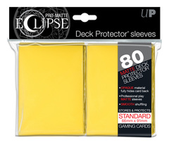 Ultra Pro Matte Eclipse Large Sleeves 80ct - Yellow (#85112)