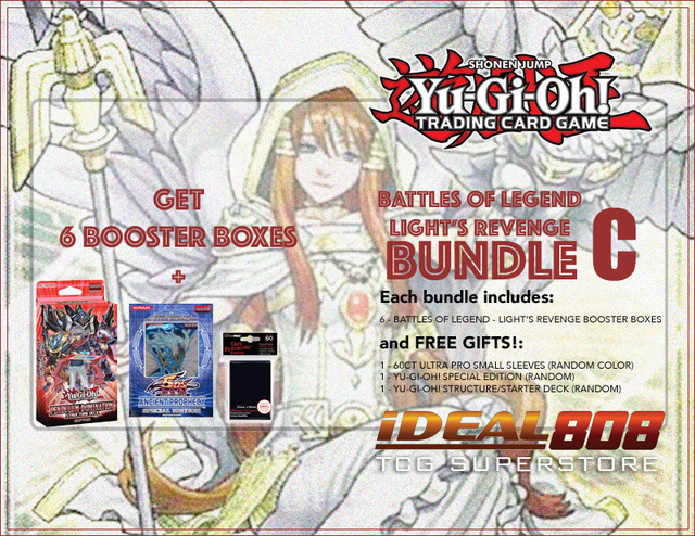 Yugioh Battles of Legend - Light's Revenge Bundle (C) Gold - Get x6 Booster Boxes + Bonus Items