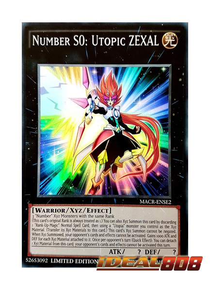 Number S0: Utopic ZEXAL - MACR-ENSE2 - Super Rare - Limited Edition