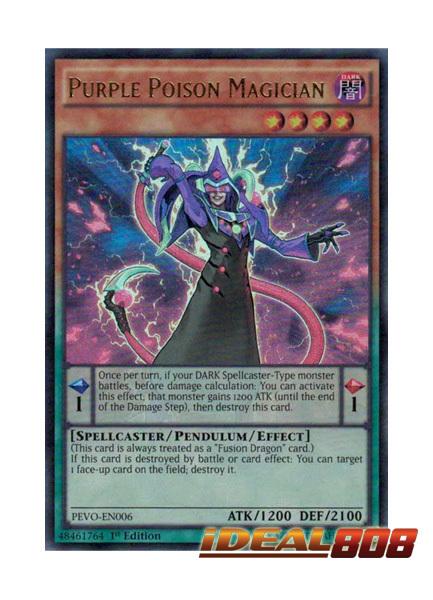 Purple Poison Magician - PEVO-EN006 - Ultra Rare - 1st Edition