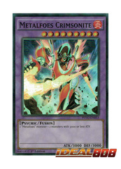 Metalfoes Crimsonite - PEVO-EN053 - Super Rare - 1st Edition