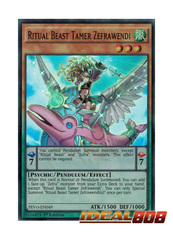 Ritual Beast Tamer Zefrawendi - PEVO-EN049 - Super Rare - 1st Edition