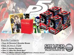 Weiss Schwarz P5 Bundle (B) Silver - Get x4 Persona 5 Booster Boxes + FREE Bonus * DELAYED
