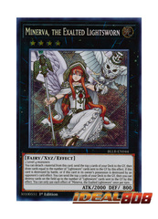 Minerva, the Exalted Lightsworn - BLLR-EN044 - Secret Rare - 1st Edition