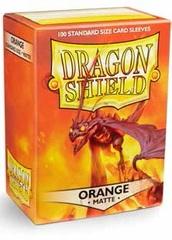 Dragon Shield Standard-size (100ct) Sleeves - Matte Orange