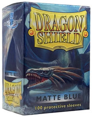 Dragon Shield Standard-size (100ct) Sleeves - Matte Blue