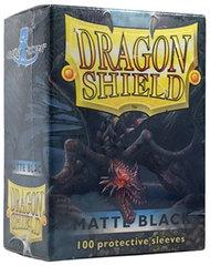 Dragon Shield Standard-size (100ct) Sleeves - Matte Black