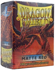 Dragon Shield Standard-size (100ct) Sleeves - Matte Red