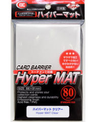 KMC Card Barrier Hyper Mat (80ct) Large Sleeves - Clear