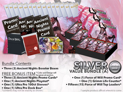 Force of Will Bundle (A) Silver - x 3 Ancient Nights + FREE Bonus * PRE-ORDER Ships SEP.08