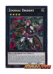 Zoodiac Drident - MP17-EN208 - Secret Rare - 1st Edition