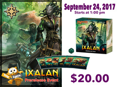 [EVENT TICKET] ToyLynx - Dole Cannery - Ixalan Prerelease<br 23>[September 24, 2017 - 1:00 pm] <br> * Limit 1 per *