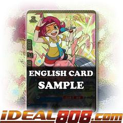 Martian Handsome Superhero, Takosuke [X-BT03A-UB02/SS002EN ER (Gold Border Autograph/Stamp FOIL)] English