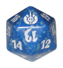MTG Spindown 20 Life Counter - Mirrodin Besieged (Blue)