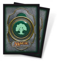 Magic the Gathering Mana Color 3 Sleeve 80ct. - Forest on Ideal808