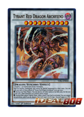 Tyrant Red Dragon Archfiend - TDIL-EN050 - Ultra Rare - 1st Edition