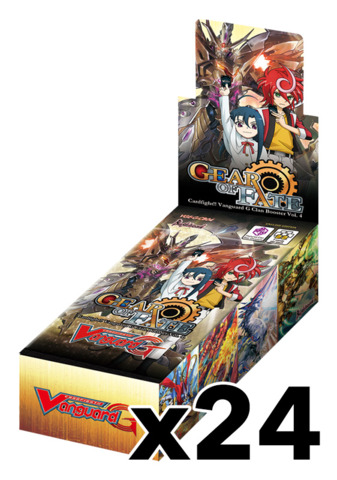CFV-G-CB04 Gear of Fate (English) Cardfight Vanguard G-Clan Booster  Case (24 Boxes)