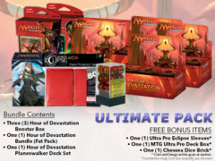 MTGHOU Ultimate Pack - Get x3 Hour of Devastation Booster Box; x1 Bundle; & 1 Planeswalker Deck Set + FREE Bonus Items * PRE-ORD