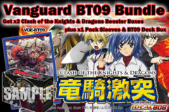 Cardfight Vanguard BT09 Bundle: Get x2 Clash of Knights & Dragons Booster Boxes plus x1 Deck Box x1 Guardian, Lox Sleeve * PRE-6 on Ideal808