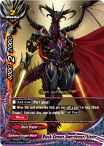 Black Demon Swordsman, Vader [D-BT02/0020EN RR (FOIL)] English