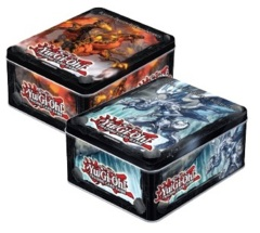 Yugioh 2013 Wave 1 Collector's Tin Case - Six (6) Blaster, Dragon Ruler of Infernos & Six (6) Tidal, Dragon Ruler of Waterfalls  on Ideal808
