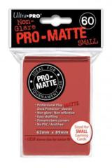 Ultra Pro Matte Non-Glare Small Sleeves 60ct - Red (#84263)