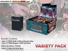 Dragoborne BT02 Variety Pack - Get x1 Oath of Blood Booster Box & x2 TD04 Reaper's Gift Trial Deck + FREE Bonus Items * PRE-ORDE