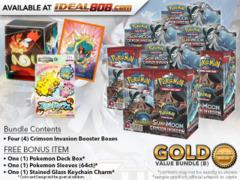 Pokemon SM04 Bundle (B) Gold - Get x4 Crimson Invasion Booster Box + FREE Bonus * PRE-ORDER Ships Nov.03