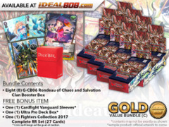 Cardfight Vanguard G-CB06 Bundle (C) Gold - Get x8 Rondeau of Chaos and Salvation Booster Box + FREE Bonus Items * Ships Dec.1