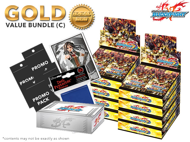 FC-Buddyfight D-CBT01 Bundle (C) Gold - Get x8 Dragon Fighters Climax Booster Box + FREE Bonus * PRE-ORDER Ships Feb.24