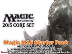 Magic 2015 (M15) Core Set Bundle (A) - Get x1 of each (Fat Pack, Clash Pack, Intro Pack, Deck Builder's Toolkit) + FREE Bonuses on Ideal808
