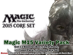 Magic 2015 (M15) Core Set Bundle (B) - Get x1 of each (Booster Box, Fat Pack, Clash Pack, Intro Pack) + FREE Bonuses on Ideal808